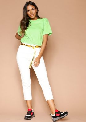 Marisa White Cropped Jeans