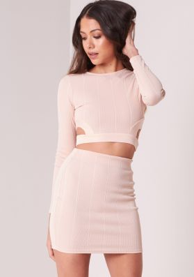 Nori Nude Cut Out Ribbed Co-ord