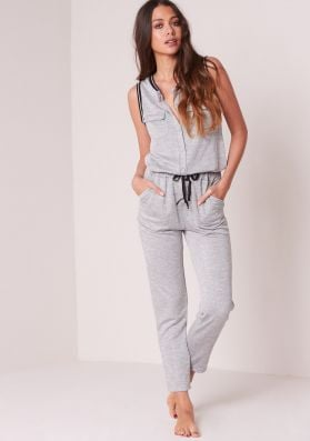 Yuri Grey Sleeveless Lounge Jumpsuit