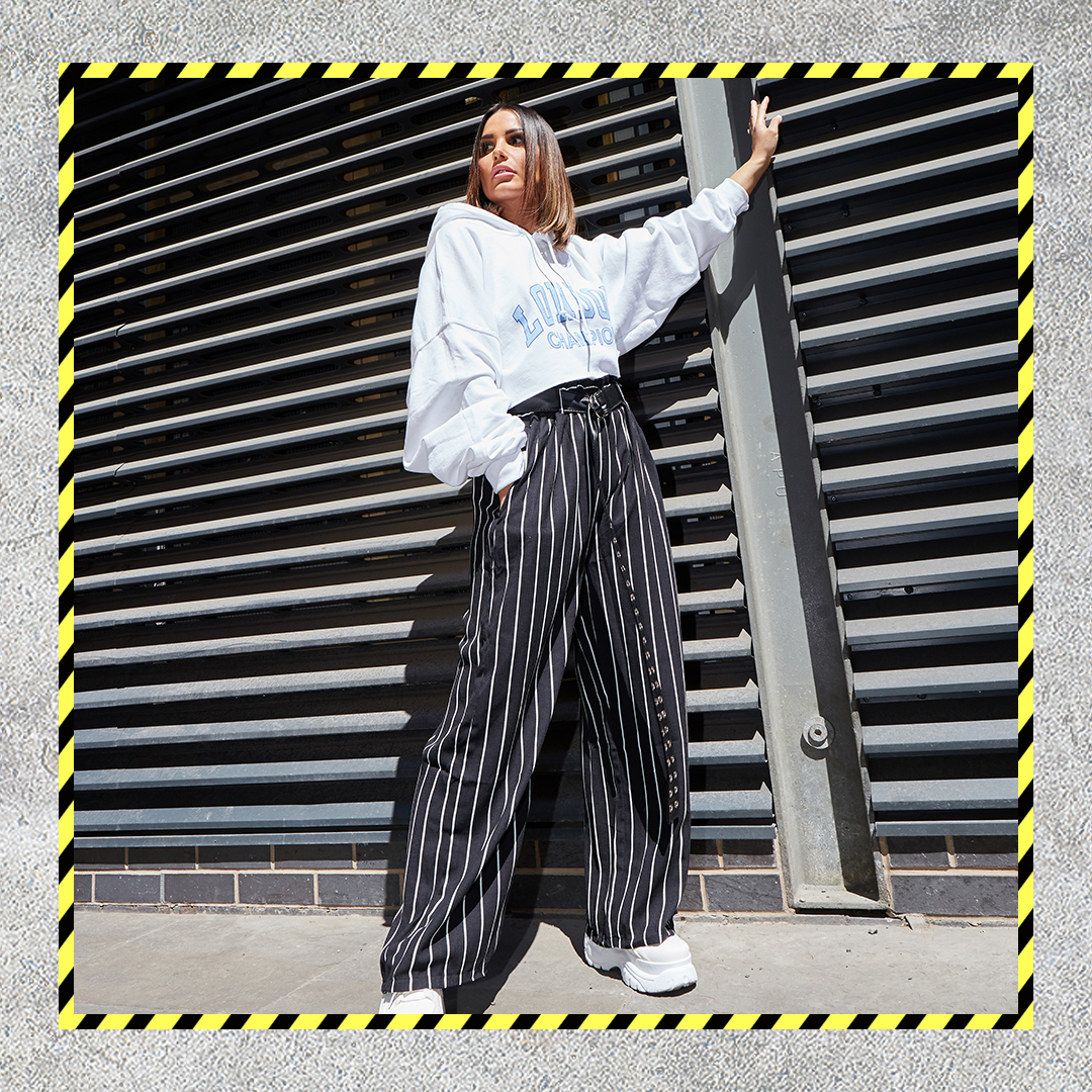 Anna Masi Oversized Stripe Trousers